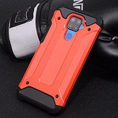Coque Contour Silicone et Plastique Housse Etui Mat U01 pour Huawei Mate 30 Lite Rouge
