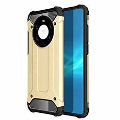 Coque Contour Silicone et Plastique Housse Etui Mat U01 pour Huawei Mate 40 Pro+ Plus Or