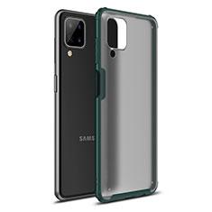 Coque Contour Silicone et Plastique Housse Etui Mat U01 pour Samsung Galaxy A12 Vert