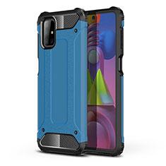 Coque Contour Silicone et Plastique Housse Etui Mat U01 pour Samsung Galaxy M51 Bleu Ciel
