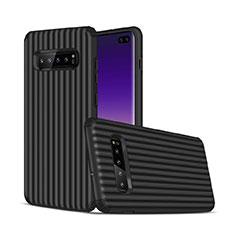 Coque Contour Silicone et Plastique Housse Etui Mat U01 pour Samsung Galaxy S10 Plus Noir