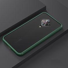 Coque Contour Silicone et Plastique Housse Etui Mat U01 pour Vivo X50 Lite Cyan