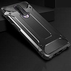 Coque Contour Silicone et Plastique Housse Etui Mat U01 pour Xiaomi Poco X2 Noir