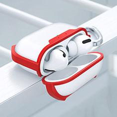 Coque Contour Silicone et Plastique Housse Etui Mat U02 pour Apple AirPods Pro Rouge
