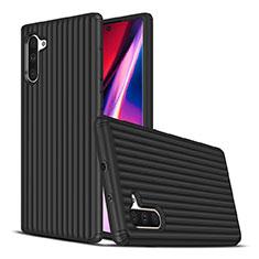 Coque Contour Silicone et Plastique Housse Etui Mat U02 pour Samsung Galaxy Note 10 Noir