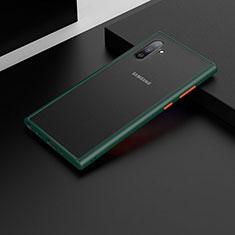 Coque Contour Silicone et Plastique Housse Etui Mat U04 pour Samsung Galaxy Note 10 5G Vert