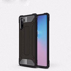 Coque Contour Silicone et Plastique Housse Etui Mat U05 pour Samsung Galaxy Note 10 Noir