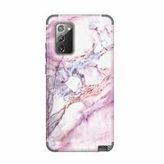 Coque Contour Silicone et Plastique Housse Etui Protection Integrale 360 Degres N02 pour Samsung Galaxy Note 20 5G Gris