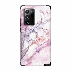 Coque Contour Silicone et Plastique Housse Etui Protection Integrale 360 Degres N02 pour Samsung Galaxy Note 20 Ultra 5G Noir