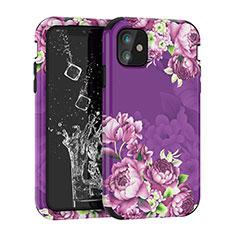 Coque Contour Silicone et Plastique Housse Etui Protection Integrale 360 Degres pour Apple iPhone 11 Violet