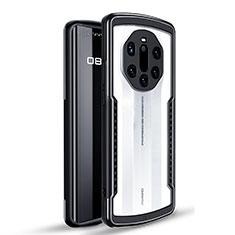 Coque Contour Silicone et Plastique Housse Etui Protection Integrale 360 Degres pour Huawei Mate 40 RS Noir
