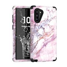 Coque Contour Silicone et Plastique Housse Etui Protection Integrale 360 Degres pour Samsung Galaxy Note 10 Noir