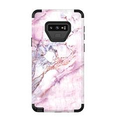 Coque Contour Silicone et Plastique Housse Etui Protection Integrale 360 Degres pour Samsung Galaxy Note 9 Noir