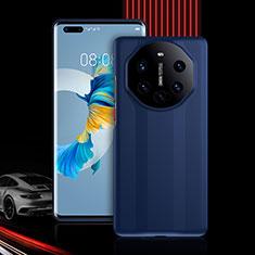 Coque Contour Silicone et Plastique Housse Etui Protection Integrale 360 Degres R01 pour Huawei Mate 40 Pro Bleu
