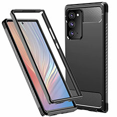 Coque Contour Silicone et Plastique Housse Etui Protection Integrale 360 Degres R01 pour Samsung Galaxy Note 20 5G Noir