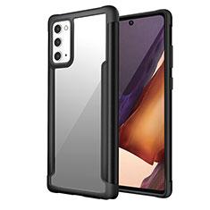 Coque Contour Silicone et Plastique Housse Etui Protection Integrale 360 Degres R02 pour Samsung Galaxy Note 20 5G Noir
