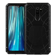 Coque Contour Silicone et Plastique Housse Etui Protection Integrale 360 Degres R02 pour Xiaomi Redmi Note 8 Pro Noir