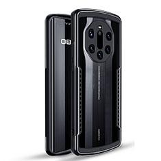 Coque Contour Silicone et Plastique Housse Etui Protection Integrale 360 Degres U01 pour Huawei Mate 40 RS Noir