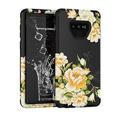 Coque Contour Silicone et Plastique Housse Etui Protection Integrale 360 Degres U01 pour Samsung Galaxy Note 9 Noir