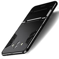 Coque Contour Silicone et Plastique Mat avec Support pour Huawei Mate 10 Noir