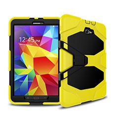 Coque Contour Silicone et Plastique Mat avec Support pour Samsung Galaxy Tab A6 10.1 SM-T580 SM-T585 Jaune