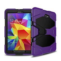 Coque Contour Silicone et Plastique Mat avec Support pour Samsung Galaxy Tab A6 10.1 SM-T580 SM-T585 Violet