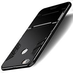 Coque Contour Silicone et Plastique Mat avec Support pour Xiaomi Redmi Note 5A High Edition Noir