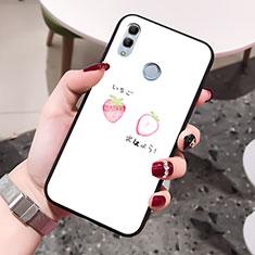 Coque Contour Silicone et Vitre Amour Coeur Miroir Etui Housse pour Huawei Honor 10 Lite Blanc