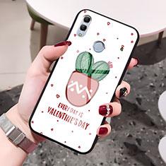 Coque Contour Silicone et Vitre Amour Coeur Miroir Etui Housse S01 pour Huawei Honor 10 Lite Rouge