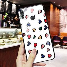 Coque Contour Silicone et Vitre Amour Coeur Miroir S01 pour Huawei Honor 8X Mixte