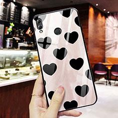 Coque Contour Silicone et Vitre Amour Coeur Miroir S03 pour Huawei Honor 8X Rouge