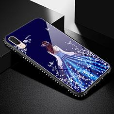 Coque Contour Silicone et Vitre Dos de Fille Miroir Etui Housse pour Huawei P20 Noir