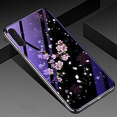 Coque Contour Silicone et Vitre Fleurs Miroir Etui Housse K01 pour Samsung Galaxy Note 10 Plus 5G Mixte