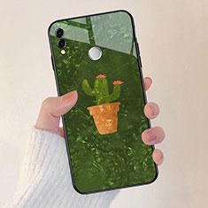 Coque Contour Silicone et Vitre Fleurs Miroir pour Huawei Honor 8X Vert