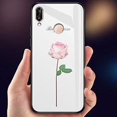 Coque Contour Silicone et Vitre Fleurs Miroir pour Huawei P Smart (2019) Rose