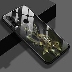 Coque Contour Silicone et Vitre Fleurs Miroir pour Huawei P30 Lite Jaune