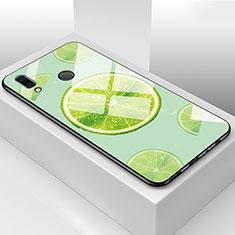 Coque Contour Silicone et Vitre Fruit Miroir Etui Housse pour Huawei Honor View 10 Lite Vert