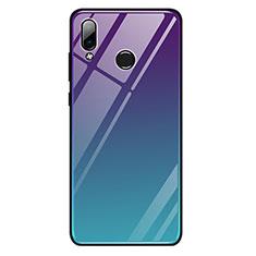 Coque Contour Silicone et Vitre Miroir Housse Etui Degrade Arc en Ciel G01 pour Huawei Honor Play Mixte