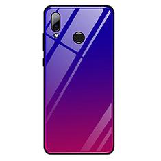 Coque Contour Silicone et Vitre Miroir Housse Etui Degrade Arc en Ciel G01 pour Huawei Honor Play Rouge