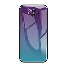 Coque Contour Silicone et Vitre Miroir Housse Etui Degrade Arc en Ciel pour Huawei Mate 10 Mixte