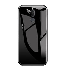 Coque Contour Silicone et Vitre Miroir Housse Etui Degrade Arc en Ciel pour Huawei Nova 2i Noir