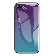 Coque Contour Silicone et Vitre Miroir Housse Etui Degrade Arc en Ciel pour Huawei Nova 2S Mixte