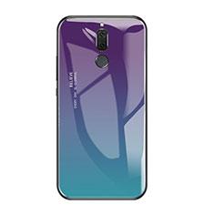 Coque Contour Silicone et Vitre Miroir Housse Etui Degrade Arc en Ciel pour Huawei Rhone Mixte