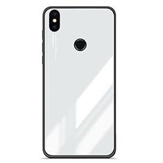 Coque Contour Silicone et Vitre Miroir Housse Etui Degrade pour Xiaomi Mi 6X Blanc
