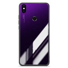 Coque Contour Silicone et Vitre Miroir Housse Etui Degrade pour Xiaomi Mi 6X Violet
