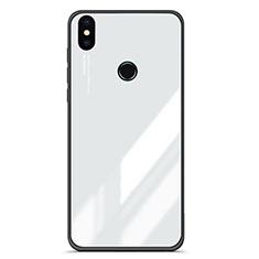 Coque Contour Silicone et Vitre Miroir Housse Etui Degrade pour Xiaomi Mi A2 Blanc