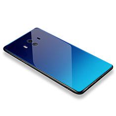 Coque Contour Silicone et Vitre Miroir Housse Etui M01 pour Huawei Mate 10 Bleu Ciel