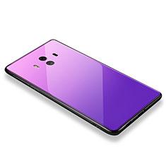Coque Contour Silicone et Vitre Miroir Housse Etui M01 pour Huawei Mate 10 Rose
