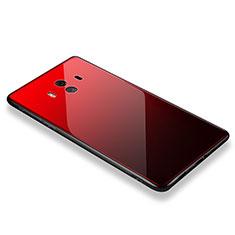 Coque Contour Silicone et Vitre Miroir Housse Etui M01 pour Huawei Mate 10 Rouge