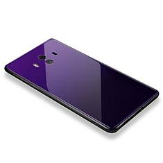 Coque Contour Silicone et Vitre Miroir Housse Etui M01 pour Huawei Mate 10 Violet